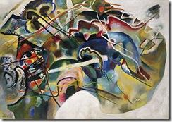 Kandinsky 1913 Painting with White Border