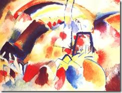 Kandinsky paysages aux taches rouges 1913