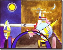 Wassily Kandinsky - Picture Xvi, The Great Gate Of Kiev Stage Set For Mussorgsky'S Pictures At An Exhibition I
