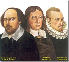 Los tres grandes de la literatura inglesa-The big three of English literature