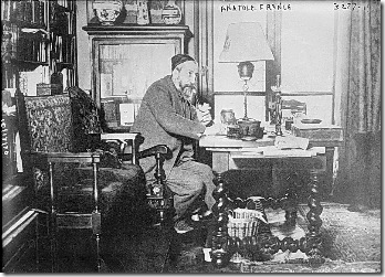 Anatole France trabajando