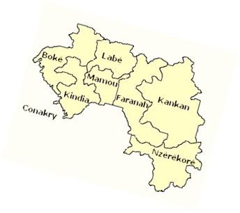 Regiones de Guinea