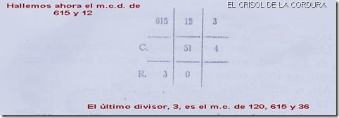 Ejemplo máximo común divisor 3