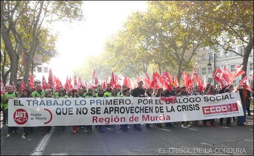MANIFESTACION EN MADRID 12-12-12 PANCARTA