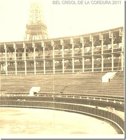 PLAZA -TOROS-EXPOSICION-UNIVERSAL 1889-EL CRISOL DE LA CORDURA
