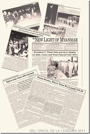 New Light of Myanmar periódico órgano de gobierno birmano-EL CRISOL DE LA CORDURA
