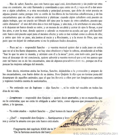 QUIJOTE Y SANCHO-EL CRISOL DE LA CORDURA