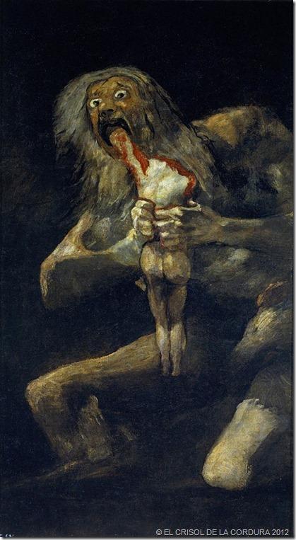 Saturno devorando a su hijo (1819-1823)-Francisco de Goya-EL CRISOL DE LA CORDURA