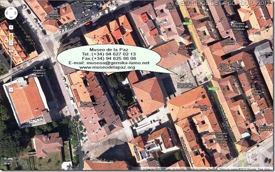 Museo de la Paz Guernica-vista de google maps