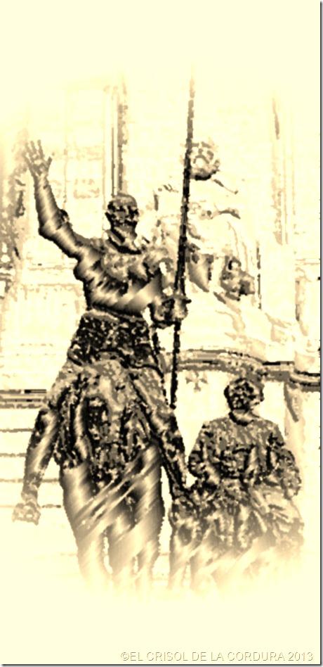 Cervantes-El Quijote y Sancho-EL CRISOL DE LA CORDURA